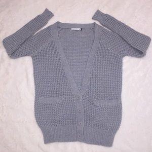 Nasty Gal X MINK PINK Gray Cardigan Sweater XS/S